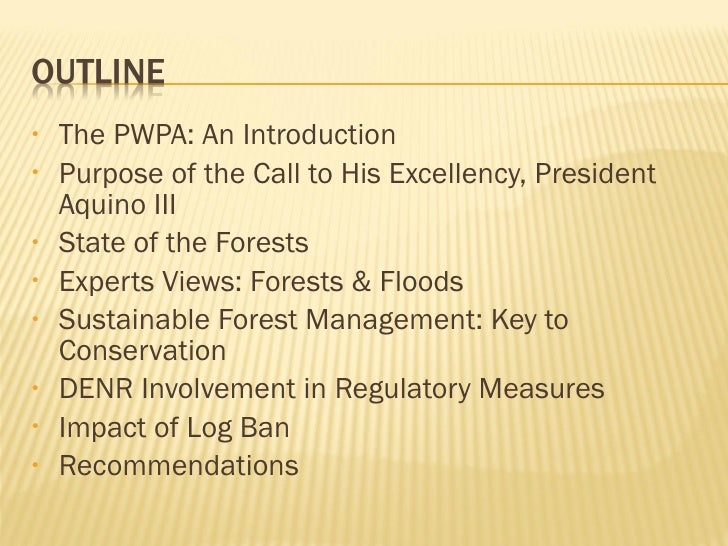 <ul><li>The PWPA: An Introduction </li></ul><ul><li>Purpose of the Call to His Excellency, President Aquino III </li></ul>...