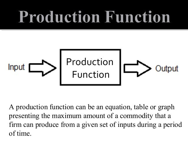 how to solve a production function equation