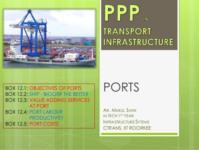 BOX 12.1: OBJECTIVES OF PORTS BOX 12.2: SHIP - BIGGER THE BETTER BOX 12.3: VALUE ADDING SERVICES AT PORT BOX 12.4: PORT LA...