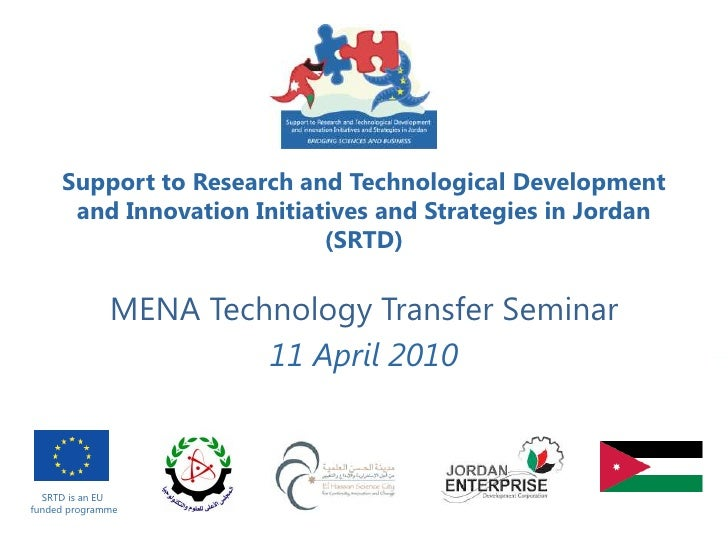 Support to Research and Technological Development       and Innovation Initiatives and Strategies in Jordan               ...