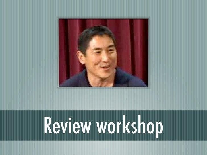 Presentation review workshop