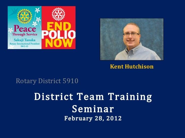 Rotary 5910 District Team Training