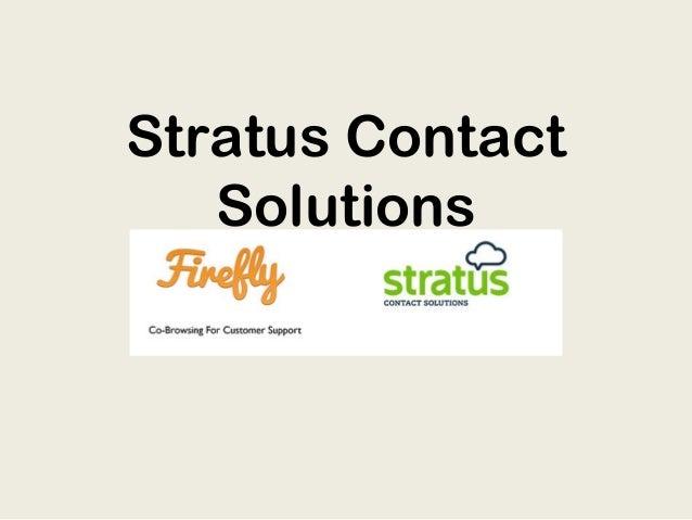 Stratus ContactSolutions