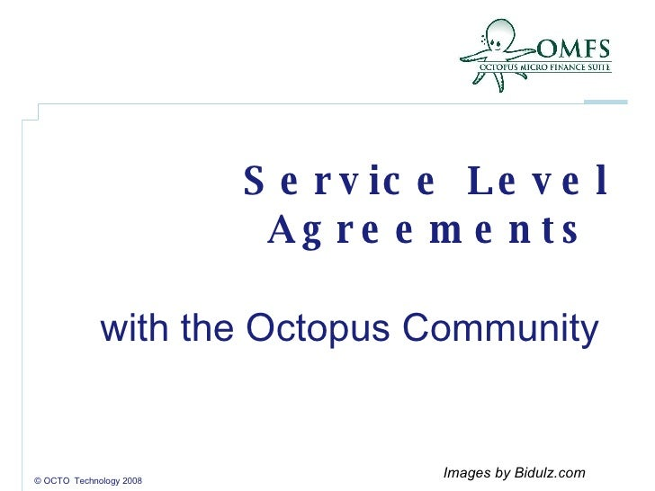 Service Level Agreements  with the Octopus Community  © OCTO  Technology 2008 Images by Bidulz.com