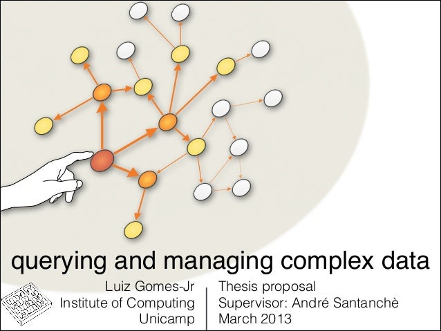 Querying and Managing Complex Networks - Thesis Proposal