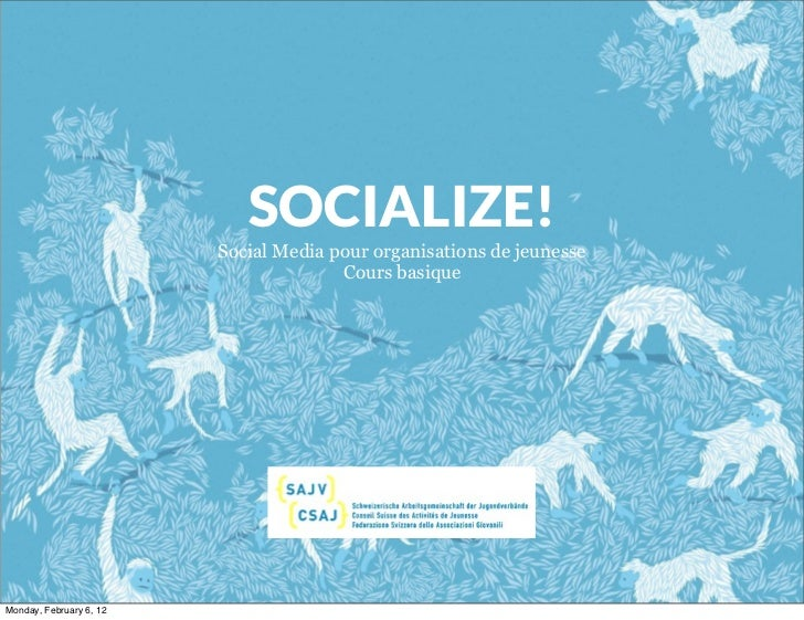SOCIALIZE!                         Social Media pour organisations de jeunesse                                       Cours...