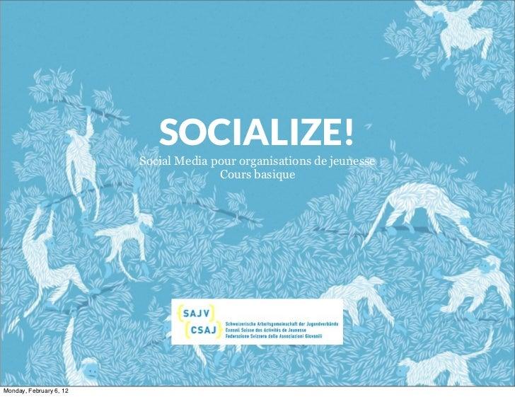 """Cours """"Social Media pour les organisations de jeunesse - basique"""""""