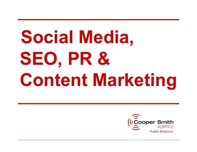 Social Media,SEO, PR &Content Marketing