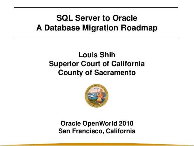 Presentation sql server to oracle a database migration roadmap