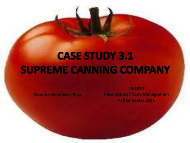supreme canning company essay Donovan v rrl corp (2001) :: :: supreme court of , donovan v rrl corp (2001) (ellis canning company v elsinore, supra, 54 understanding and answering essay.