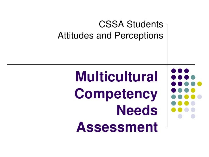 CSSA StudentsAttitudes and Perceptions<br />Multicultural Competency Needs Assessment<br />