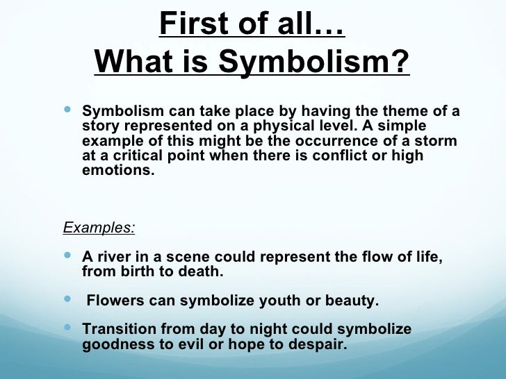 An Example Of Symbol Symbol Literary Example Symbols Poetry