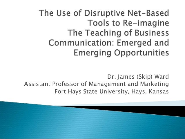 Presentation  the use of disruptive net-based tools to re-imagine