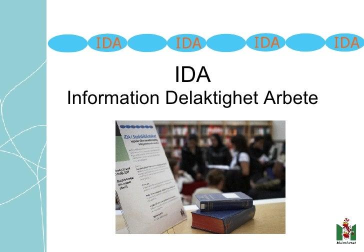 IDA Information Delaktighet Arbete