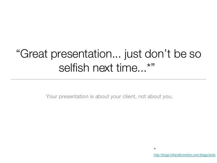 Presentation Tips for PR Students