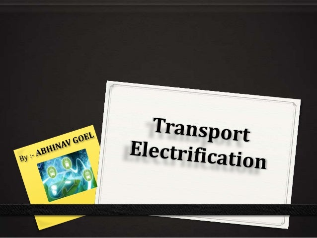 Transport Electrification