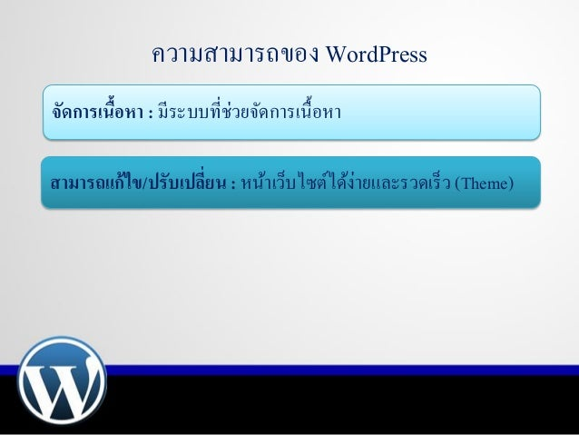 Presentation wordpress