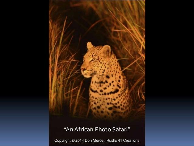 """An African Photo Safari"" Copyright © 2014 Don Mercer, Rustic 41 Creations"