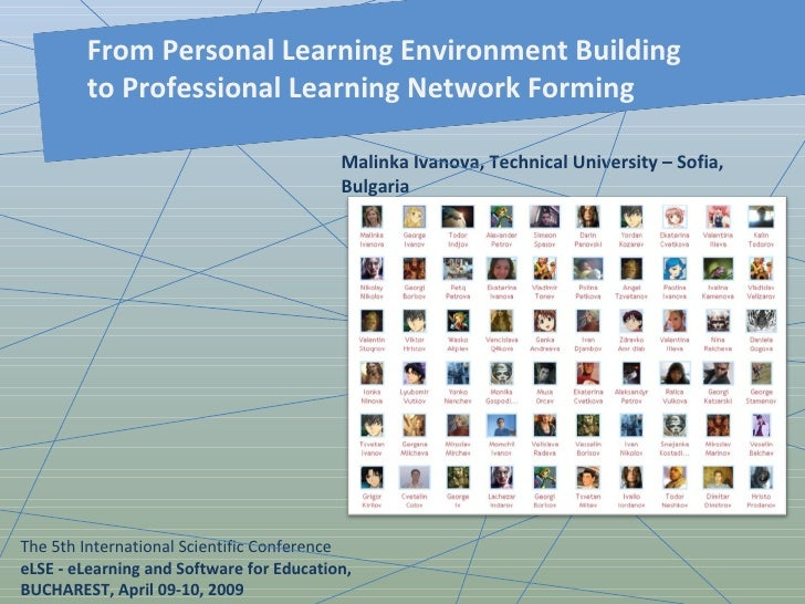 From Personal Learning Environment Building to Professional Learning Network Forming