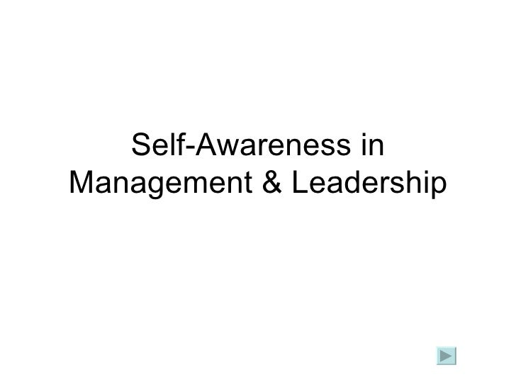 Self-Awareness in Management & Leadership