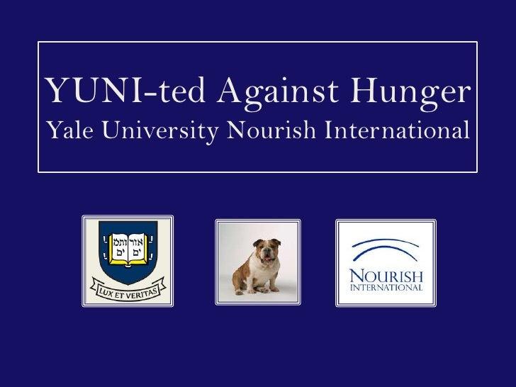 YUNI-ted Against HungerYale University Nourish International<br />