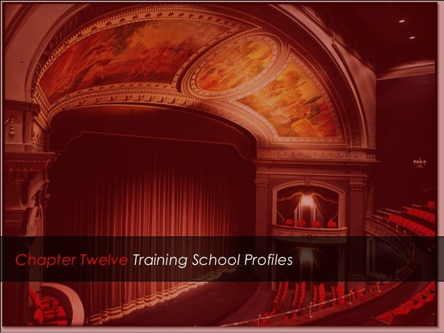Chapter Twelve Training School Profiles