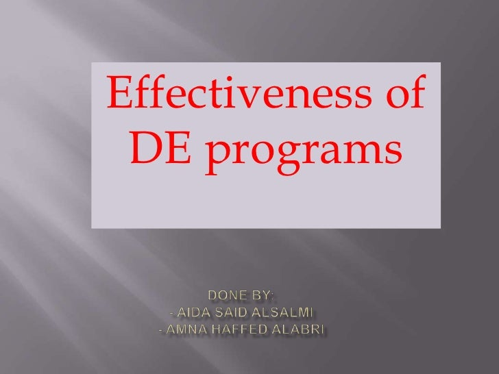 Effectiveness of Distance education