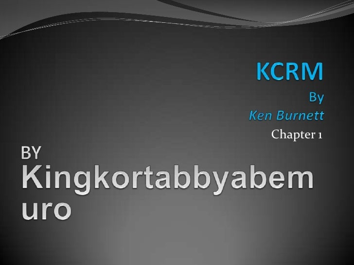 Chapter 1, KCRM