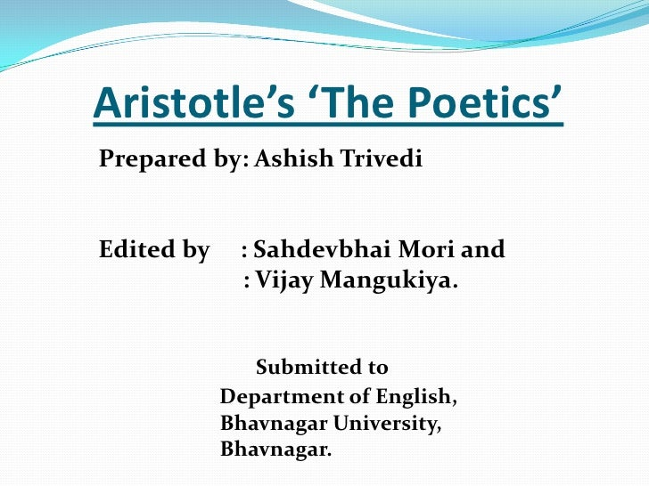 Aristotle's Poetics: Summary