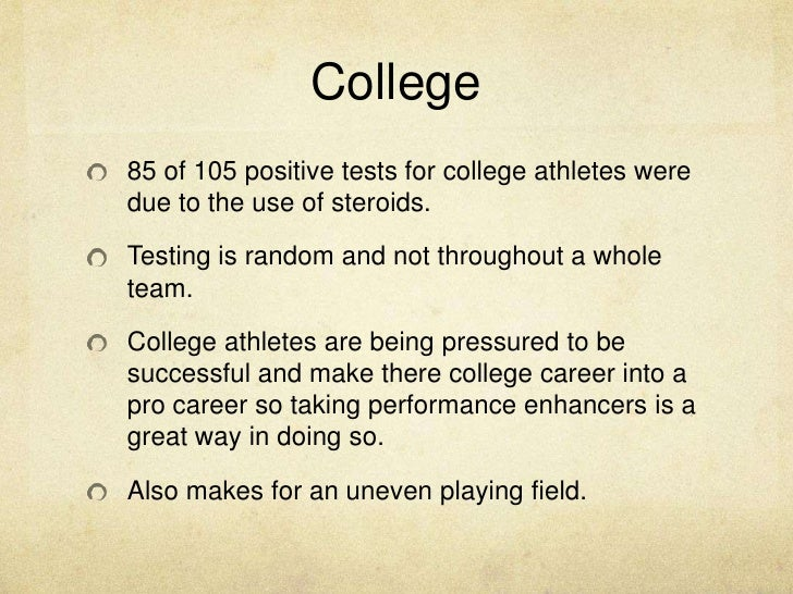 the use of drugs by athletes