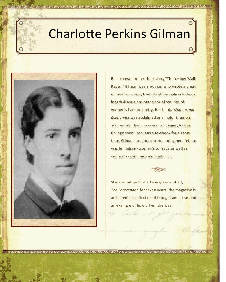 charlotte perkins gilman women economics essay Essay minna doskow charlotte perkins gilman: gilman demonstrates in women and economics that contemporary society is based on interdependence and cooperation.