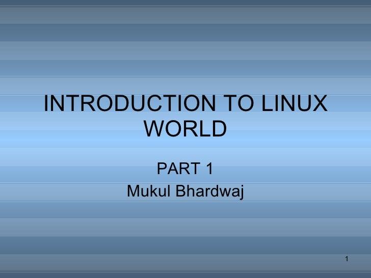 Basic Linux Internals