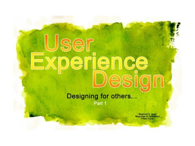 User Experience Design - Designing for others