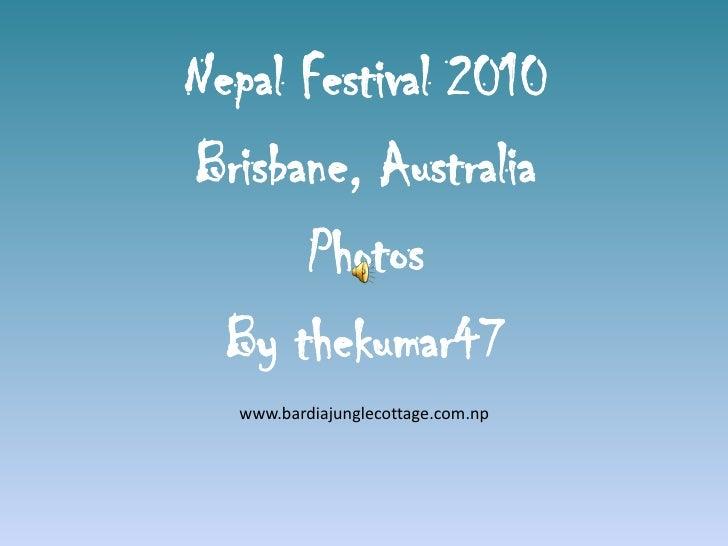 Nepal Festival 2010 in Brisbane, Australia