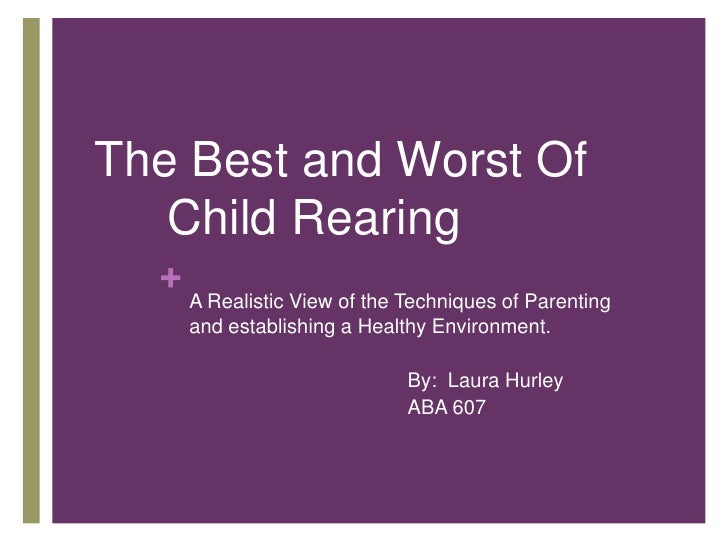 The Best and Worst Of Child Rearing <br />A Realistic View of the Techniques of Parenting and establishing a Healthy Env...