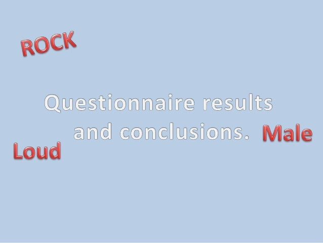 Over half term I was given the task of collecting the results for my questionnaire and presenting them in the form of char...