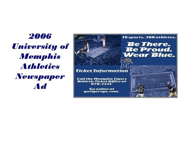 2006 University of Memphis Athletics Newspaper Ad