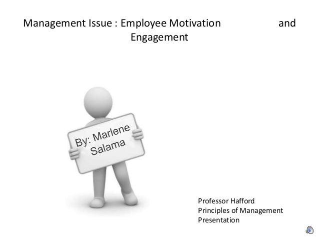 Management Issue : Employee Motivation and Engagement Professor Hafford Principles of Management Presentation