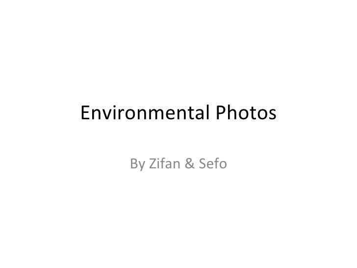 Environmental Photos By Zifan & Sefo