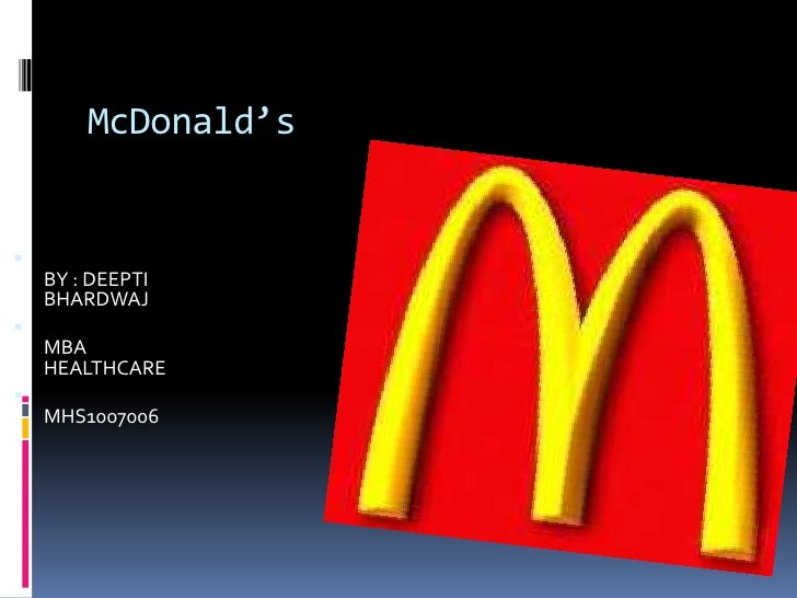 Presentation on McDonald's Corp.