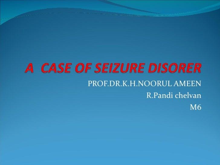 PROF.DR.K.H.NOORUL AMEEN R.Pandi chelvan M6