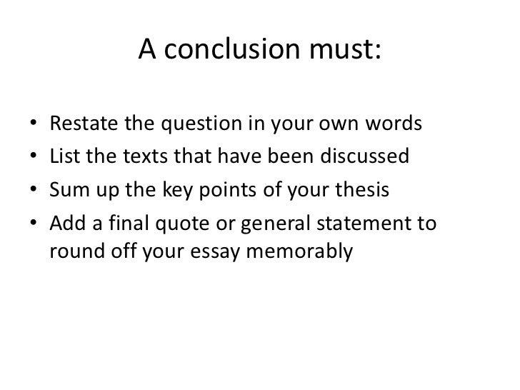 conflict conclusion essay