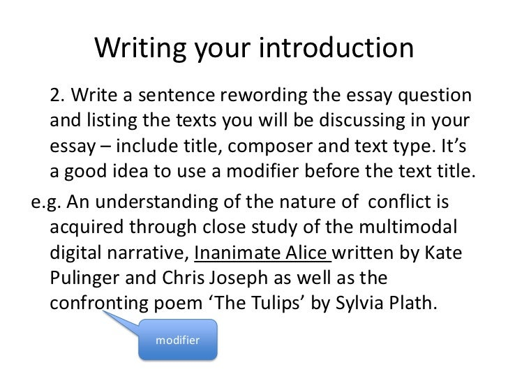 Introduction essay writing