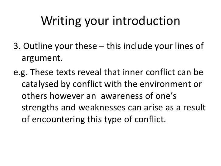 Conflict Prompt Essays