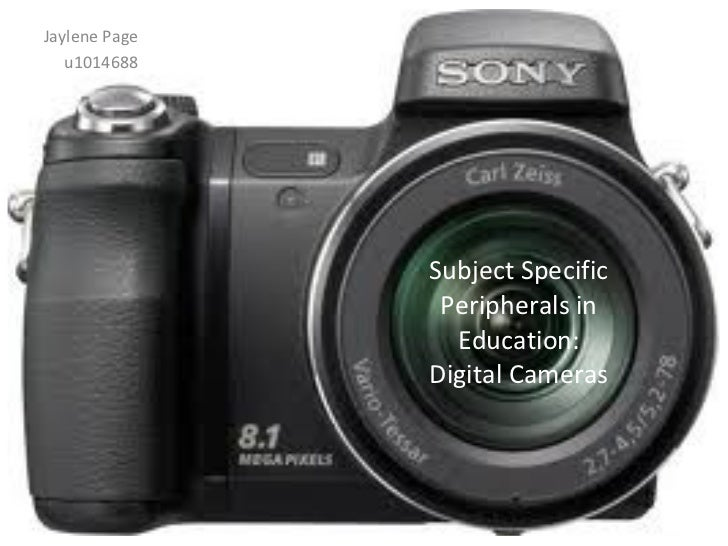Subject Specific Peripherals - Digital Cameras in Education