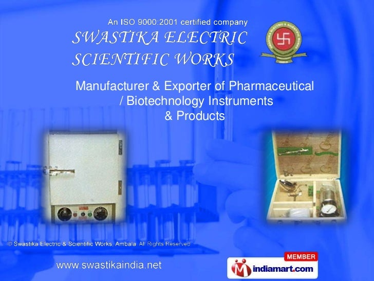 Manufacturer & Exporter of Pharmaceutical<br /> / Biotechnology Instruments <br />& Products<br />