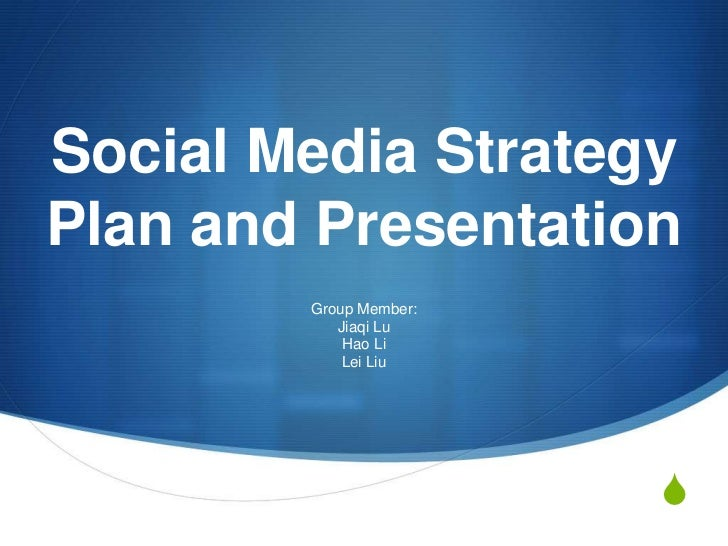 Presentation for social media final