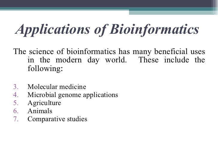application of bioinformatics in drug discovery ppt
