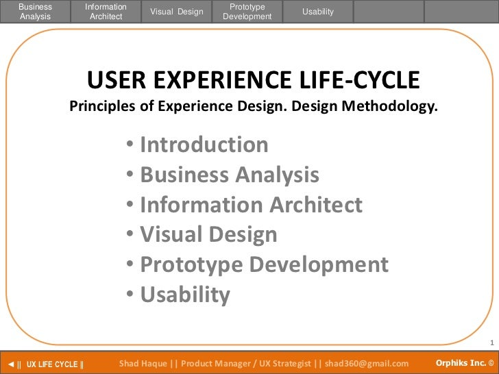 UX LIFE CYCLE