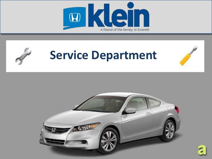 Save More when you service at Klein Honda - Service Center Seattle